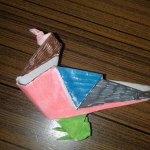 Оригами - голубь.